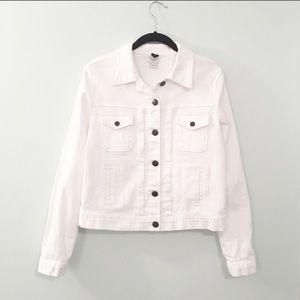 J. Crew White Button Down Jean Jacket Size Small